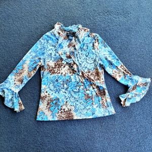 CROSSROADS   MESH AND LACE BLOUSE SIZE 14
